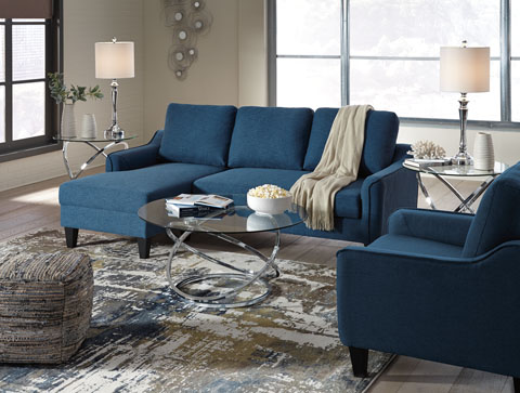 Jarreau Sofa Chaise Sleeper With Accent Chair Mikes Rent