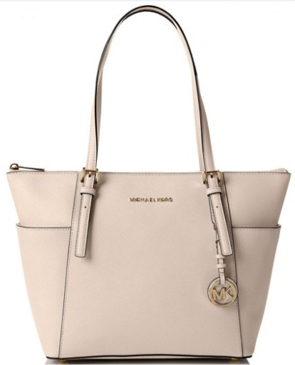 0233d4625144 Michael Kors Jet Set Top-Zip Saffiano Leather Tote