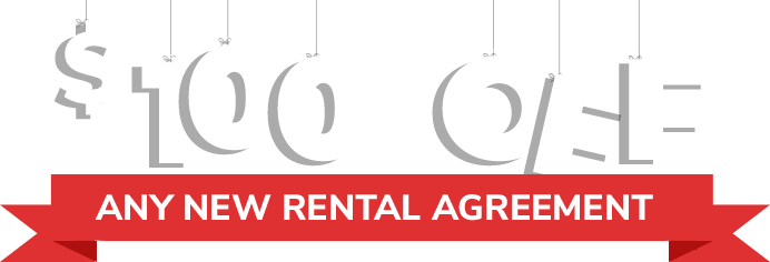 $100 off any new rental agreement